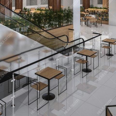 طراحی فودکورت مجتمع تجاری اداری سعدی
