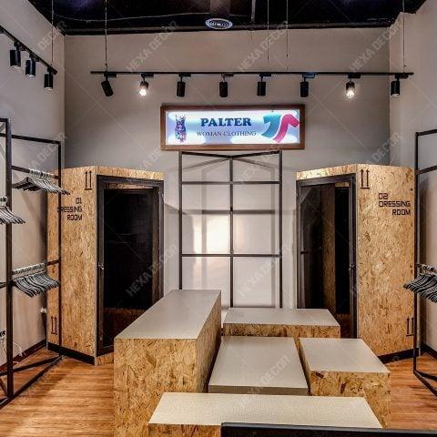 بازسازی فروشگاهی و دکوراسیون داخلی برند پالتار