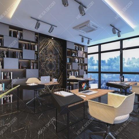 طراحی دکوراسیون داخلی واحد اداری