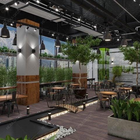 طراحی فودکورت مرکز خرید شمیران سنتر